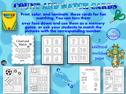Count and Match cards #3