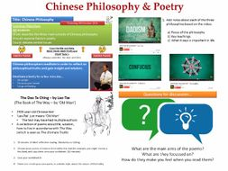 Chinese Poetry & Philosophy (COMPLETE LESSON)  [Focussing on The Dao Te Ching by Lao-Tze]