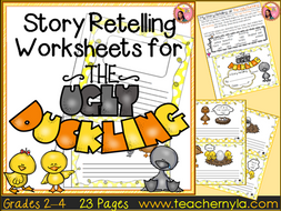 The Ugly Duckling - Retelling Worksheets