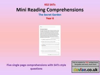 Mini Reading Comprehensions - The Secret Garden