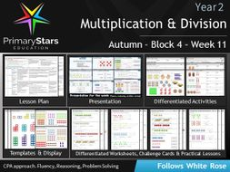 YEAR 2 - Multiplication- White Rose - WEEK 11 - Block 4 - Aut - Differentiated Planning & Resources