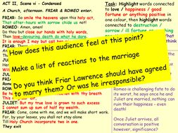 R&J Revision Lesson Act 2,s6 & Act 3,s1