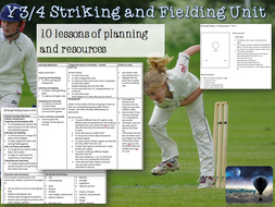 Y3/4 PE Striking and Fielding Unit LKS2 Rounders Cricket Y4