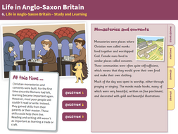 Study and Learning - Interactive Teaching Book - Anglo-Saxon Britain KS2