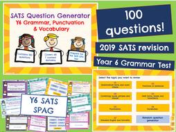Y6 SATS: SPAG  Last Minute Revision