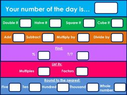 Number of the day starter activity