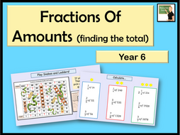 Maths- Fractions of amounts- Year 6