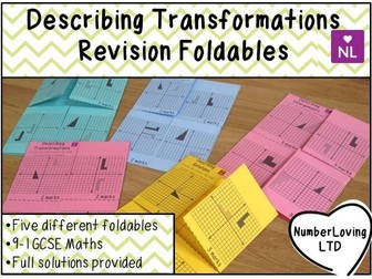 Describing Transformations (Foldable)