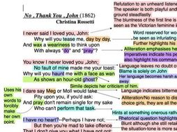 Analysis and Powerpoint Presentation of the poem 'No , Thank You , John'