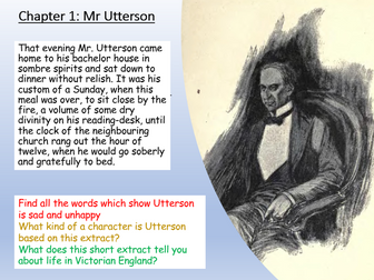 Jekyll and Hyde: Utterson and Chapter 1
