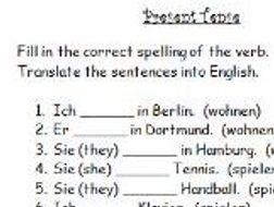 german present tense verbs worksheet by jac42 teaching resources. Black Bedroom Furniture Sets. Home Design Ideas