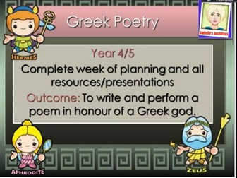 Ancient Greek Poetry   COMPLETE WEEK