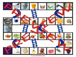 Container Words Chutes and Ladders Board Game