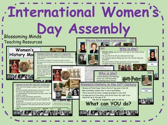 International Women's Day Assembly - 8 March - Women's History Month