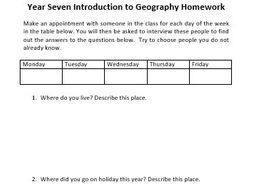 Year 7 geography homework help