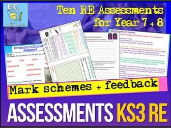 RE Assessments KS3