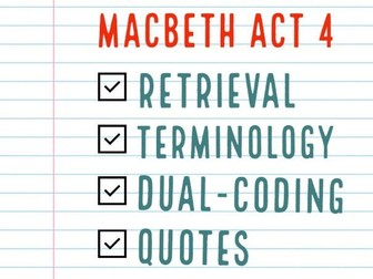 Macbeth Act 4 Consolidation / Revision Activities