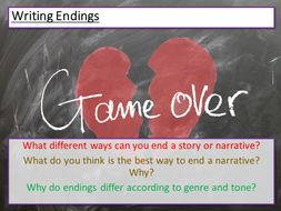 Creative Writing - Endings