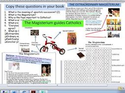 Eduqas Route B Component 2. Life and Death. Edexcel A The Ordinary and Extraordinary Magisterium