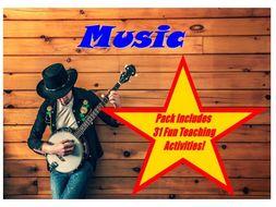30 Music Themed Photo PowerPoint Presentation + 31 Teaching Activity Teacher Guide For Photos