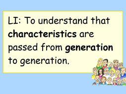 KS2 Science Inheritance and Variation Presentation and Family Tree Activity