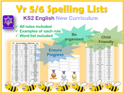 Year 5/6 Spelling Words New Curriculum