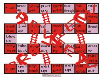 Phrasal Verbs #2 Chutes and Ladders Board Game