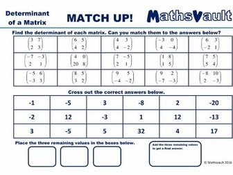 matrices match up worksheets bundle by jtodd854 teaching resources tes. Black Bedroom Furniture Sets. Home Design Ideas