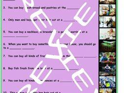 Stores and Shops 3 Photo Worksheet Set