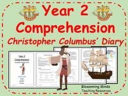Year 2 Comprehension Fictional Diary Christopher Columbus By