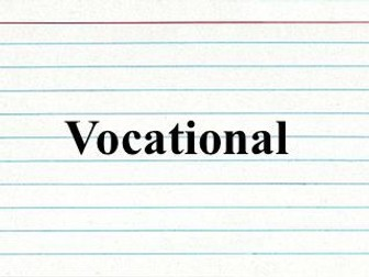 Vocational Functional Vocabulary List