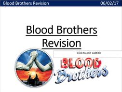 Blood Brothers Revision