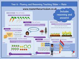 Year 6 - Editable Ratio Teaching Slides - White Rose Style