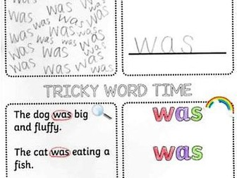 Phase 3 Tricky Words Spelling Activity