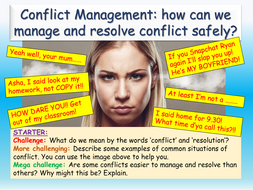 Conflict Management - Healthy Relationships PSHE