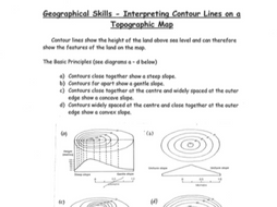 Interpreting Contour Lines on Topographic Maps Worksheet by ...