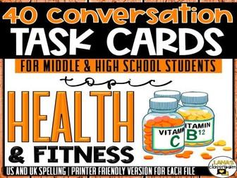 Conversation Starter Cards | Health | Social Skills for Middle&High
