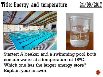 Energy and temperature - complete lesson (KS3)