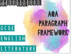 Paragraph Writing: Analysing Quotes for GCSE English Literature (AQA)