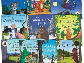 English weekly plan on texts by Julia Donaldson