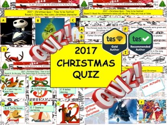 Christmas Quiz .Festive Big Quiz - End of term Quiz Christmas