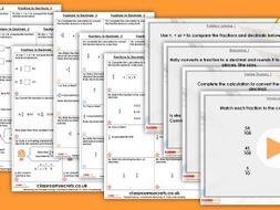 Year 6 Fractions to Decimals 2 Spring Block 1 Step 9 Maths Lesson Pack