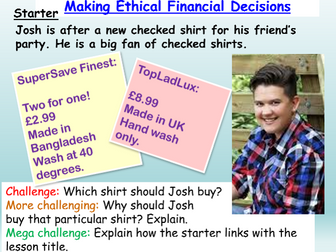 Ethical Finance / Consumers
