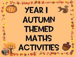 Year 1 Autumn Themed  Maths Activities