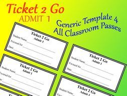 ticket 2 go all occasion pass or reward cards editable doc