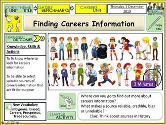 Finding Careers Information - Jobs Careers