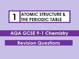 Aqa chemistry gcse 9 1 revision mat atomic structure the periodic aqa chemistry gcse 9 1 revision mat atomic structure the periodic table urtaz Images