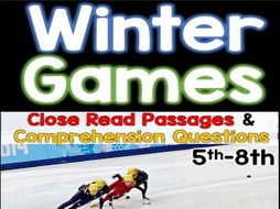 Winter Games 2018: Reading Passages & Comprehension Questions (set 2)