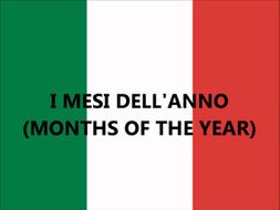 ITALIAN - I Mesi dell'Anno e le Quattro Stagioni