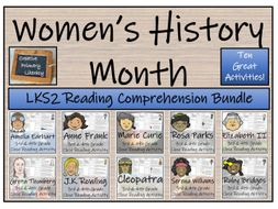 LKS2 Women's History Month Bundle of 10 Reading Comprehension Activities